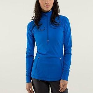 Lululemon Race With Grace 1/2 Zip ll Size 10 Blue